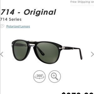 Amazing Persol foldable sunglasses 714 series